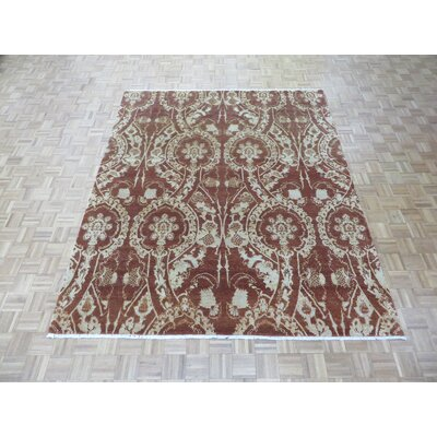 One-of-a-Kind Elbridge Modern Hand-Knotted Wool Hunter Brown Area Rug