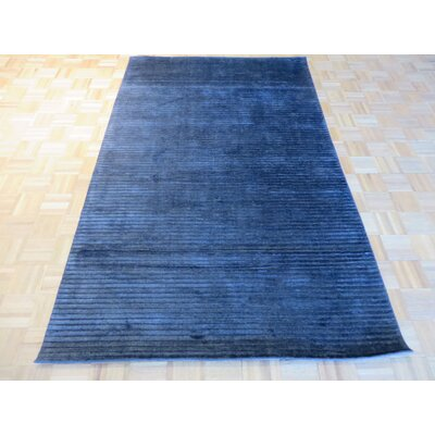 One-of-a-Kind Elbridge Hand-Knotted Wool Black Area Rug