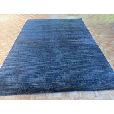 One-of-a-Kind Elbridge Hand-Knotted Wool Black Area Rug