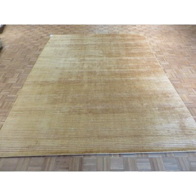 One-of-a-Kind Elbridge Hand-Knotted Wool Gold Area Rug
