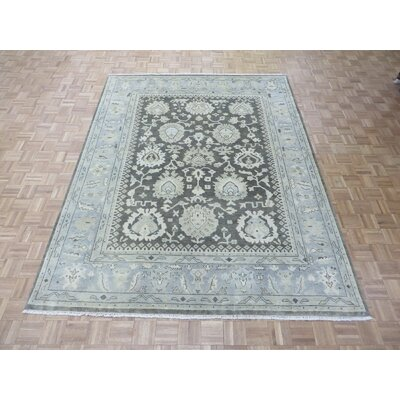 One-of-a-Kind Josephson Oushak Hand-Knotted Rayon from Bamboo Silk Brown Area Rug Rug Size: Rectangle 8 x 10