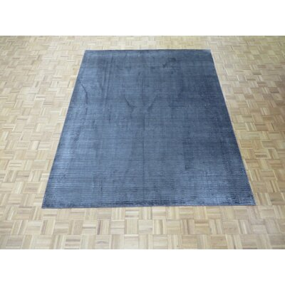 One-of-a-Kind Elbridge Hand-Knotted Black Area Rug