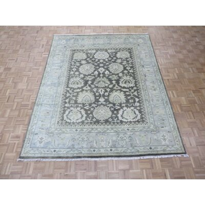 One-of-a-Kind Josephson Oushak Hand-Knotted Rayon from Bamboo Silk Brown Area Rug Rug Size: Rectangle 82 x 10