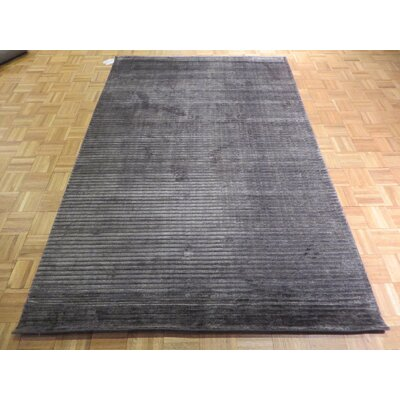 One-of-a-Kind Elbridge Hand-Knotted Dark Gray Area Rug