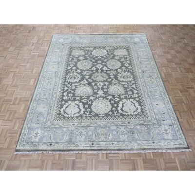 One-of-a-Kind Josephson Oushak Hand-Knotted Rayon from Bamboo Silk Brown Area Rug Rug Size: Rectangle 81 x 910