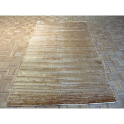 One-of-a-Kind Elbridge Hand-Knotted Brown Area Rug