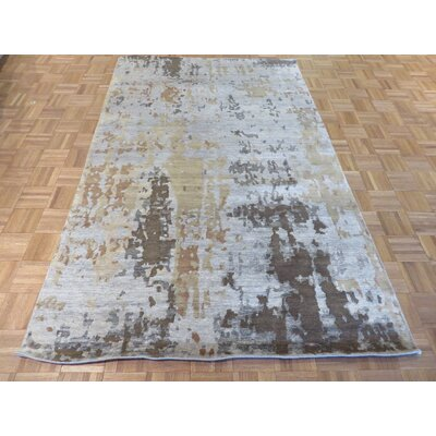 One-of-a-Kind Dickison Modern Hand-Knotted Wool Gray Area Rug
