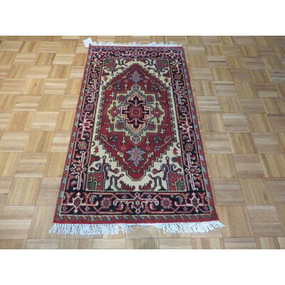 One-of-a-Kind Holz Serapi Heriz Hand-Knotted Wool Rust Red Area Rug