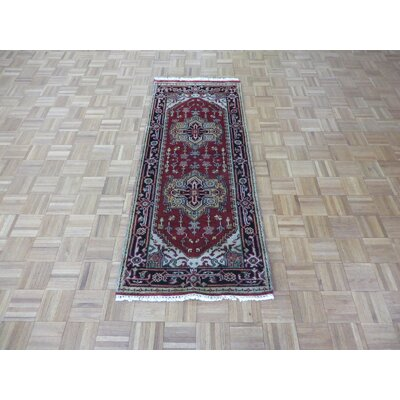 One-of-a-Kind Holz Serapi Heriz Hand-Knotted Wool Brick Red Area Rug