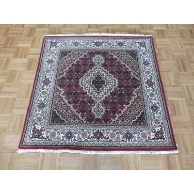 One-of-a-Kind Padro Mahi Hand-Knotted Wool Red Area Rug