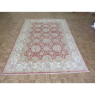 One-of-a-Kind Railsback Hand-Knotted Rust Red Area Rug