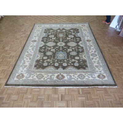 One-of-a-Kind Josephson Oushak Hand-Knotted Wool Chocolate Brown Area Rug