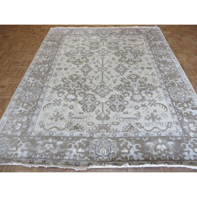 One-of-a-Kind Josephson Oushak Hand-Knotted Wool Beige/Brown Area Rug