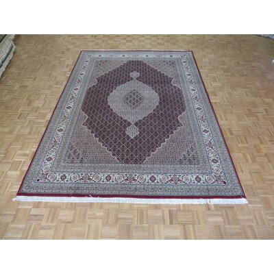 One-of-a-Kind Raiden Hand-Knotted Wool Red Area Rug