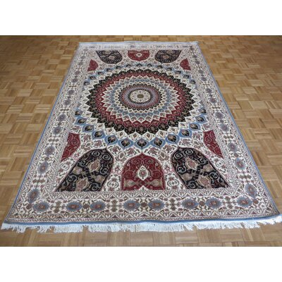 One-of-a-Kind Padro Hand-Knotted Silk Ivory Area Rug