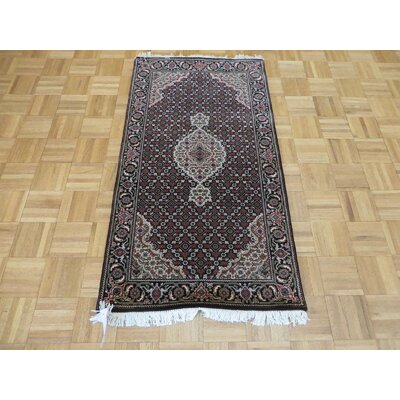 One-of-a-Kind Raiden Hand-Knotted Wool Black Area Rug