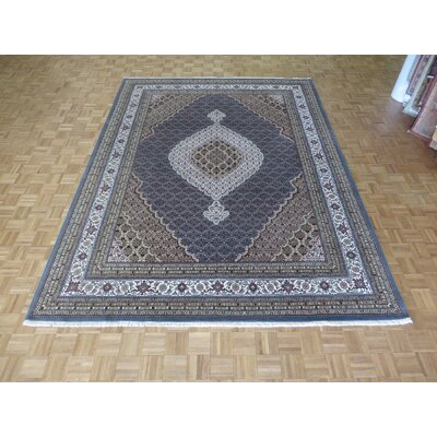 One-of-a-Kind Raiden Hand-Knotted Wool Light Blue Area Rug Rug Size: Rectangle 9 x 12
