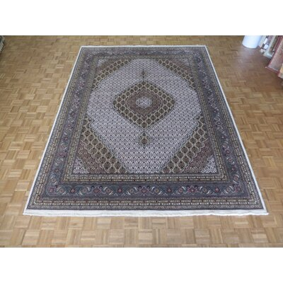 One-of-a-Kind Raiden Hand-Knotted Wool Ivory/Light Blue Area Rug