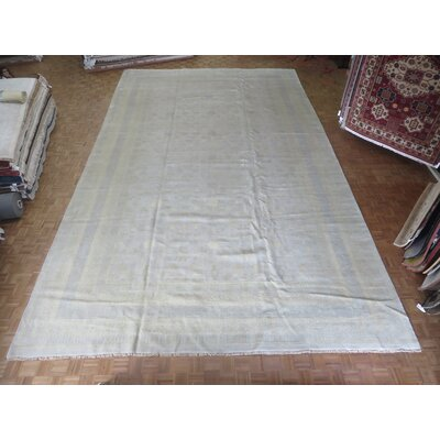 One-of-a-Kind Pellegrino Oushak Hand-Knotted Soft Ivory Area Rug