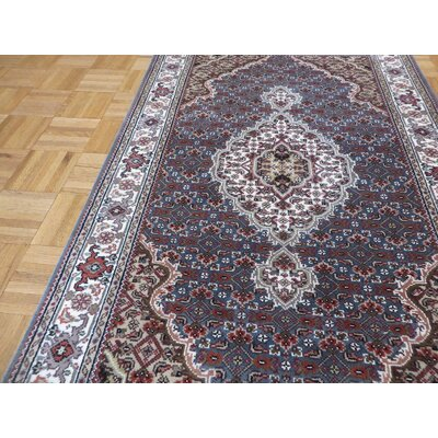 One-of-a-Kind Raiden Hand-Knotted Wool Blue Area Rug Rug Size: Rectangle 31 x 411
