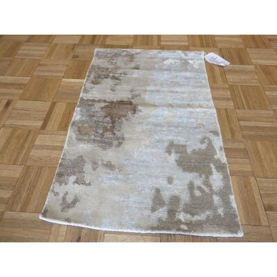 One-of-a-Kind Elbridge Abstract Hand-Knotted Ivory Area Rug