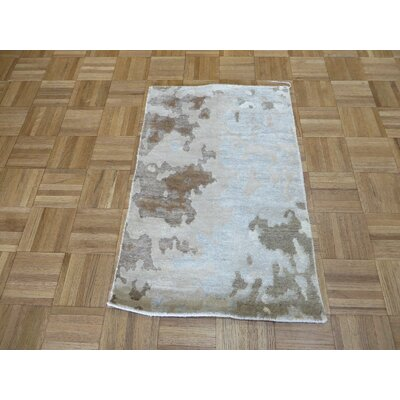 One-of-a-Kind Elbridge Broken Hand-Knotted Ivory Area Rug