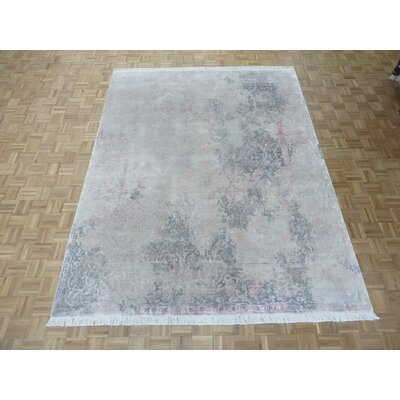 One-of-a-Kind Acord Modern Abstract Hand-Knotted Beige Area Rug