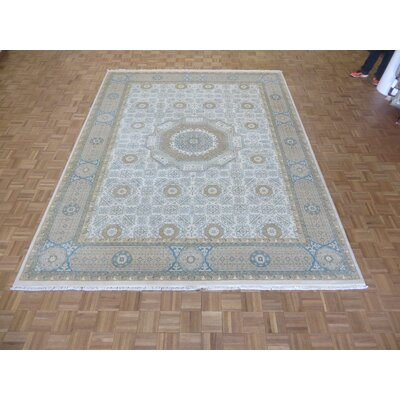 One-of-a-Kind Rhyne Mamluk Oushak Hand-Knotted Ivory/Beige Area Rug