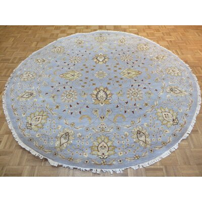 One-of-a-Kind Rhyne Peshawar Oushak Hand-Knotted Sky Blue Area Rug