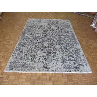 One-of-a-Kind Paden Hand-Knotted Wool Gray Area Rug
