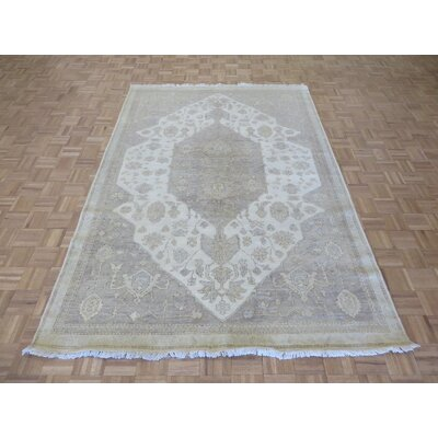 One-of-a-Kind Josephson Turkish Oushak Hand-Knotted Ivory/Gray Area Rug