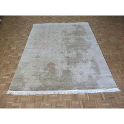 One-of-a-Kind Josephson Modern Abstract Hand-Knotted Wool Beige Area Rug Rug Size: Rectangle 10 x 142