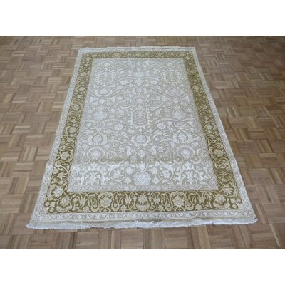 One-of-a-Kind Josephson Hand-Knotted Wool Beige/Brown Area Rug