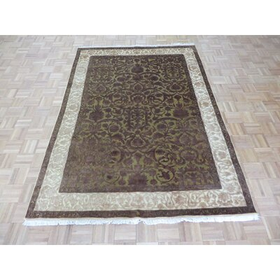 One-of-a-Kind Josephson Hand-Knotted Wool Gold/Brown Area Rug