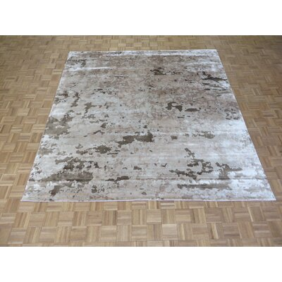 One-of-a-Kind Josephson Modern Abstract Hand-Knotted Wool Brown/Beige Area Rug