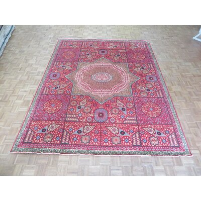 One-of-a-Kind Pagan Hand-Knotted Wool Red Area Rug Rug Size: Rectangle 9 x 119