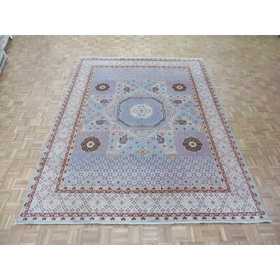 One-of-a-Kind Pagan Hand-Knotted Wool Sky Blue Area Rug Rug Size: Rectangle 9 x 119
