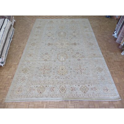 One-of-a-Kind Railsback Khotan Oushak Hand-Knotted Silk Beige Area Rug
