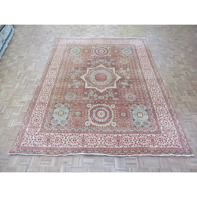 One-of-a-Kind Pagan Hand-Knotted Wool Rust Red Area Rug