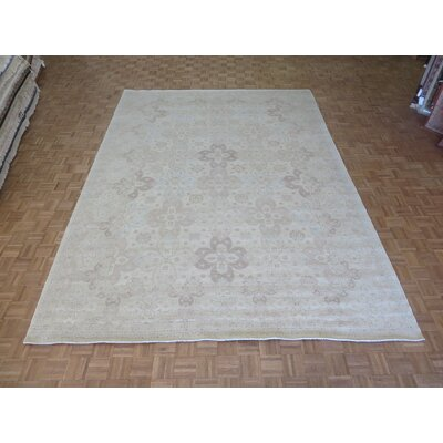 One-of-a-Kind Railsback Oushak Hand-Knotted Beige Area Rug