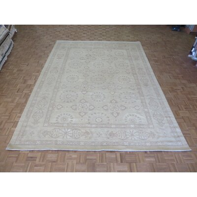 One-of-a-Kind Railsback Khotan Oushak Hand-Knotted Beige Area Rug