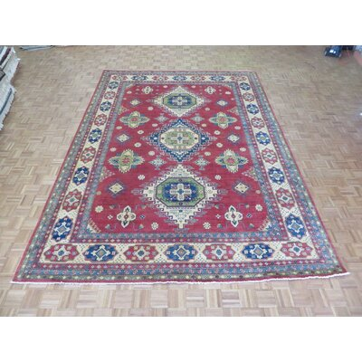 One-of-a-Kind Padula Hand-Knotted Wool Rust Red Area Rug