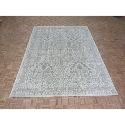 One-of-a-Kind Josephson Peshawar Hand-Knotted Wool Ivory Area Rug