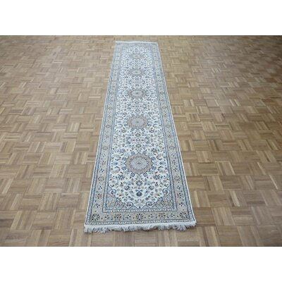 One-of-a-Kind Padro Nain Hand-Knotted Wool Ivory Area Rug Rug Size: Runner 26 x 18