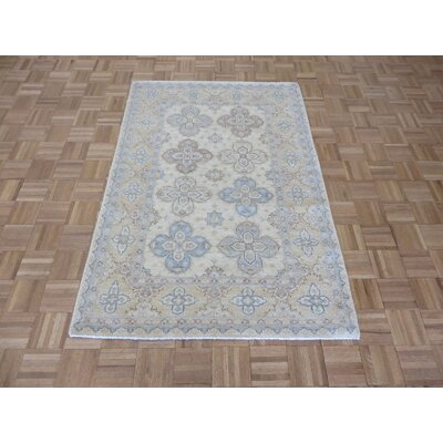 One-of-a-Kind Railsback Hand-Knotted Silk Ivory Area Rug