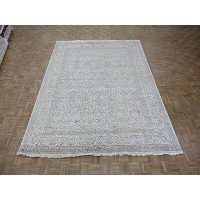 One-of-a-Kind Paden Hand-Knotted Ivory Area Rug
