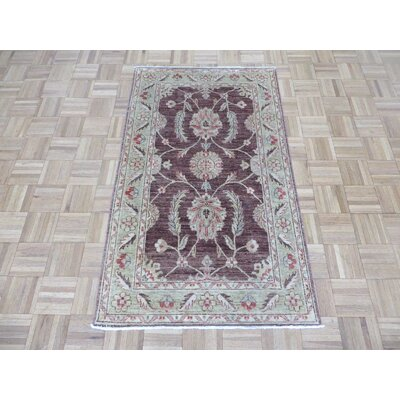 One-of-a-Kind Rhyne Peshawar Oushak Hand-Knotted Brown Area Rug