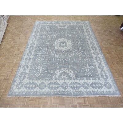 One-of-a-Kind Pagan Oushak Heriz Hand-Knotted Silk Gray Area Rug