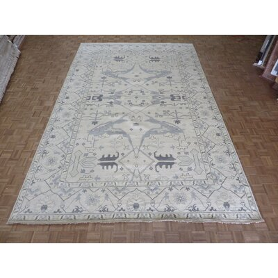 One-of-a-Kind Pellegrino Turkish Oushak Hand-Knotted Beige Area Rug
