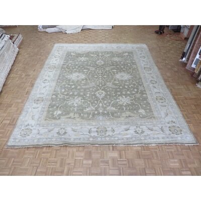 One-of-a-Kind Pellegrino Turkish Oushak Hand-Knotted Wool Light Brown Area Rug